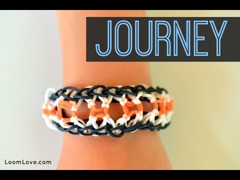 How to Make a Rainbow Loom Journey Bracelet