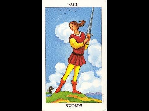 Паж мечей - Младший Аркан карт ТАРО - Значение
