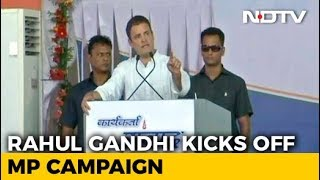 Shivraj Chouhan Announcements Like Sachin Tendulkar's Runs: Rahul Gandhi - NDTV
