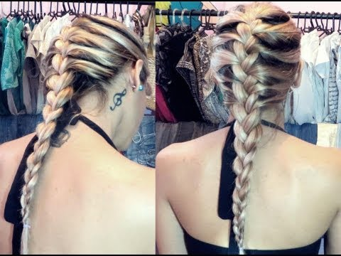 Aprenda fazer Trança embutida sozinha - how to do braid your hair