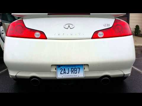 2004 infiniti G35 coupe 6MT pt.1 stock exhaust
