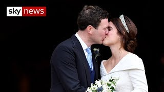Eugenie marries her man in front of A-list actors, supermodels and celebs - SKYNEWS