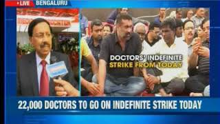 Bengaluru: Doctors have announced an indefinite strike against proposed amendments - NEWSXLIVE