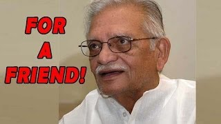 Gulzar Avoids Questions on Winning Dada Saheb Phalke Award - appreciates the art of a Friend