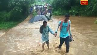 Flood like situation in Odisha's Raigarh, watch shocking visuals - ABPNEWSTV