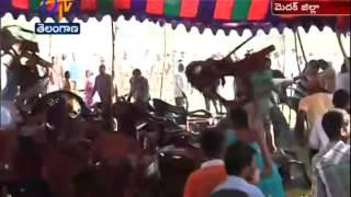 Local People Agitates Against A Pharmaceutical Company In Thoguta - ETV2INDIA