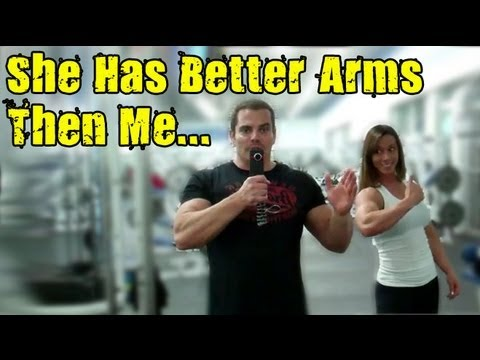 Double Bicep Cable Curls Arm Workout