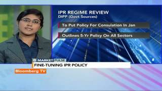 Market Pulse: National Policy For IPR To Go For Cabinet Nod - BLOOMBERGUTV