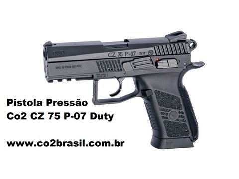 Pistola de Pressão Co2 CZ 75 P 07 Duty BBs 4,5mm co2brasil
