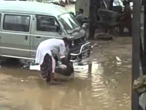 Milkman Using Rain Water - Shameless - TumTube.com