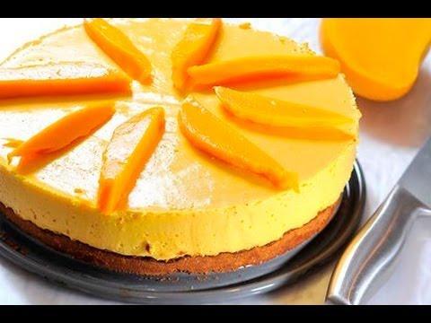 Pastel helado de mango - Mango Ice Cream Cake