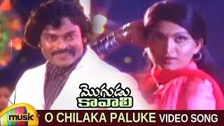 Mogudu Kavali Telugu Movie Songs | O Chilaka Paluke Video Song | Chiranjeevi | Gayatri | Mango Music - MANGOMUSIC