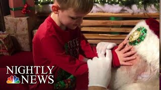 Santa Helps A 6-Year-Old Who Is Blind And Has Autism Feel The Spirit Of Christmas | NBC Nightly News - NBCNEWS