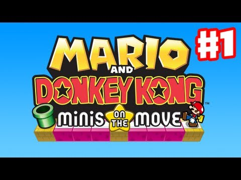 Mario and Donkey Kong: Minis on the Move - Gameplay Walkthrough Part 1 - Intro (Nintendo 3DS)