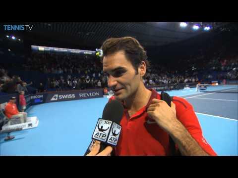Basel 2014 Friday Interview Federer