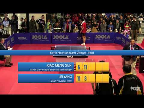 2013 JOOLA / NATT Teams Final: Xiao Meng Sun vs Lei Yang