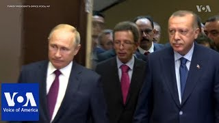 Putin Meets Erdogan in Sochi to Discuss Syria - VOAVIDEO
