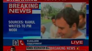 Rahul Gandhi writes to PM Modi for women reservation bill: Sources - NEWSXLIVE