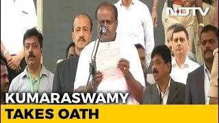 Kumaraswamy Takes Oath Amid Opposition Show Of Unity In Karnataka - NDTV