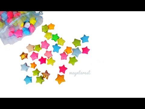 Estrellitas de papel infladas   Origami lucky stars