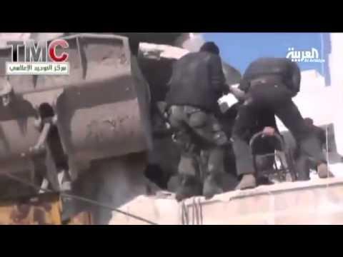 سوريا 2013  مشاهد قصف المدنيين