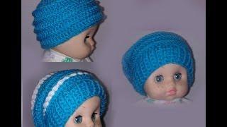 Шапка бини 3 в 1 Вязание крючком для начинающих Crochet Hats 3 in 1