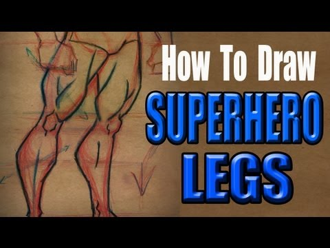 How to Draw Superhero Legs