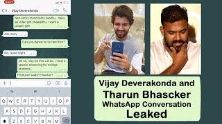 #Vijay Devarakonda And Director Tharun Bhaskar Whatsapp Chat Conversation Leaked | #VijayDevarakonda - IGTELUGU