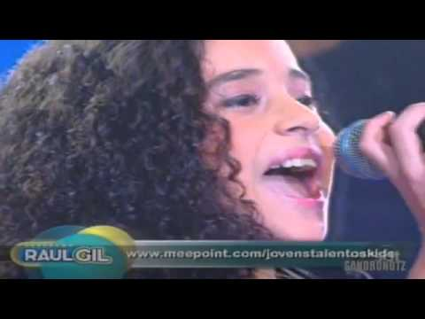 Michely Manuely cantando Ressuscita-me Programa Raul Gil 27 08 2011