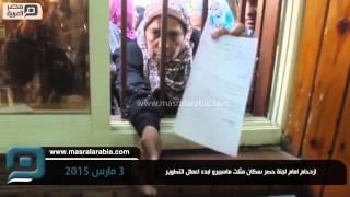 بالفيديو.. ازدحام أمام لجنة حصر سكان مثلث ماسبيرو لبدء التطوير