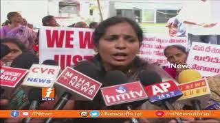 Janasena Women's Activist Silent Protest Over Comments On Pawan Kalyan | iNews - INEWS