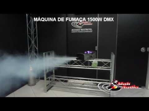 MAK AUDIO MÁQUINA DE FUMAÇA 1500W DMX + CONTROLE REMOTO SEM FIO