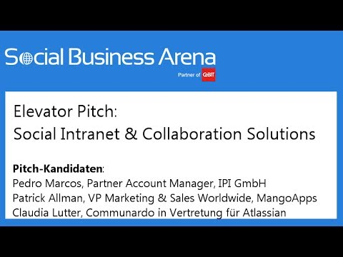 #cebitsba 2014 | Elevator Pitch mit IPI GmbH, MangoApps & Atlassian