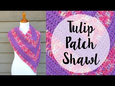How To Crochet the Tulip Patch Shawl, Episode 404