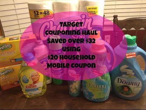 Target Couponing Haul Saved over $32 using $20 Household  Mobile Coupon wk 3/2/14
