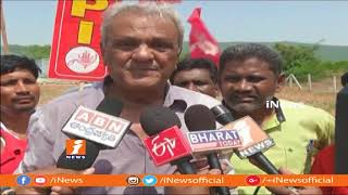 CPI Narayana Demolishes Wall Over Govt Land Grabbing In Visakha | iNews - INEWS