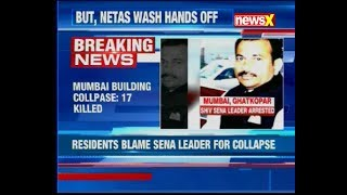 Mumbai building collapse leaves 17 dead; resident blame Shiv Sena leader - NEWSXLIVE
