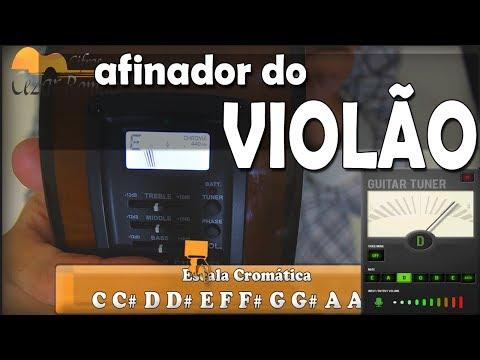 Aula de Violão 021 COMO AFINAR o VIOLÃO com afinador ELETRONICO