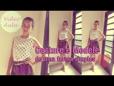 Como costurar e modelar roupas - blusa simples  Alana Santos Blogger