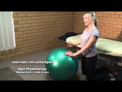 Back Pain: Physiotherapy Core Exercise with a Swiss Ball