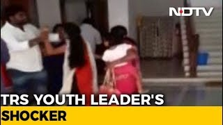 Telangana Youth Leader Beats Up Wife, Caught On Camera - NDTV