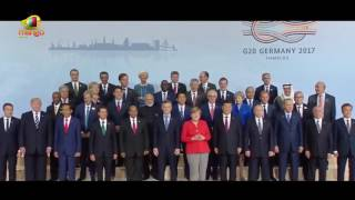 World Leaders Assemble for G20 SUMMIT Family Photo 2017 | Mango News - MANGONEWS
