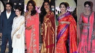 Priyanka Chopra, Madhuri Dixit and many other Bollywood Stars at Riddhi Malhotra's Wedding Reception