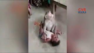విచిత్ర చేష్టలు చేసిన కోతి... | Viral Video of Monkey Hulchul in Karnataka | CVR News - CVRNEWSOFFICIAL