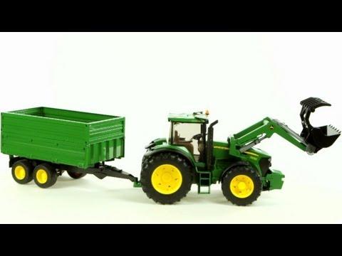 John Deere 7930 Tractor and Tandem Axle Tipping Trailer – Muffin Songs' Oyuncakları Tanıyalım