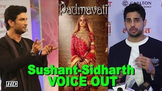 Sushant, Sidharth, Chetan Bhagat  joins Padmavati Row - IANSLIVE