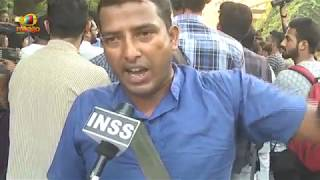 JNU Students Protest outside CBI office, Demand Faster iInquiry in Najeeb Ahmad Case | Mango News - MANGONEWS