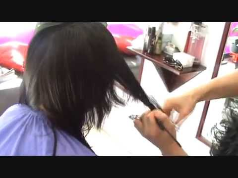 Stroke haircut for lady(SWITCHSCISSORS