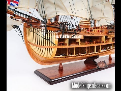 HMS Endeavour Open-Hull ~ Capt. Cook's Wood Model Ship