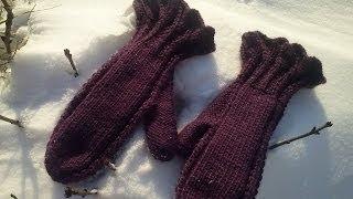Вязание для начинающих. Варежки с рюшем. Часть 1.